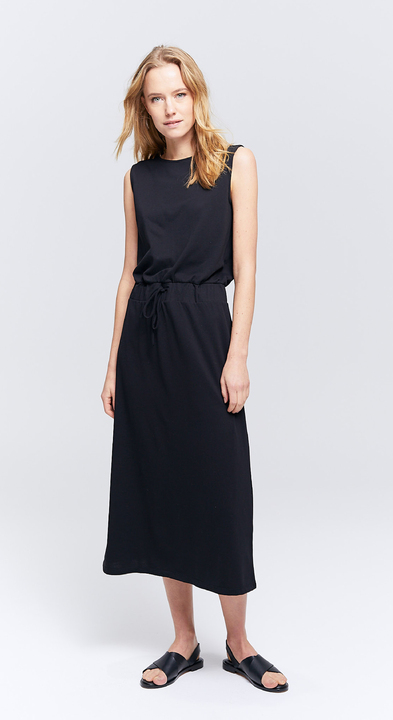 Piqué Drawstring Sadie Dress