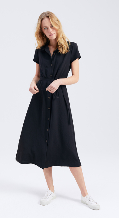 Japanese Crêpe Jeanne Dress