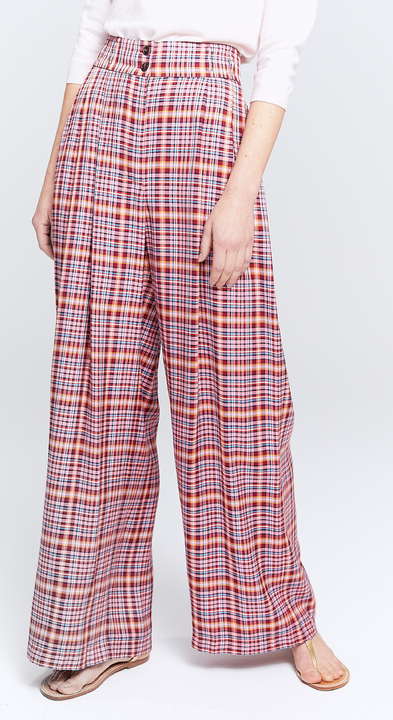 Silky Check Mix Bette Trousers