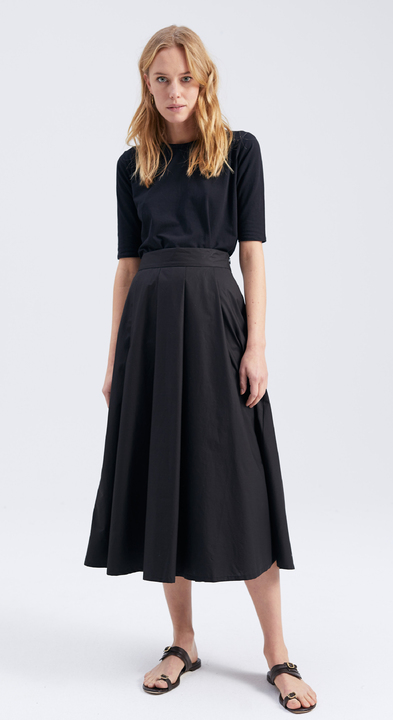 Cotton Poplin Mayfair Skirt