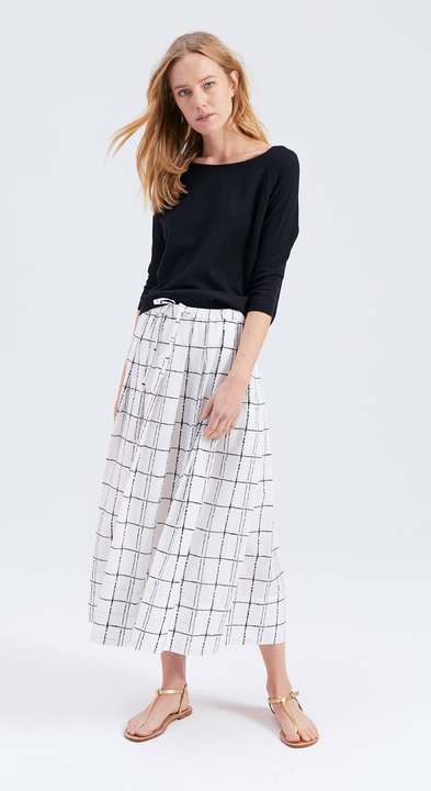 Painted Check Abby Skirt