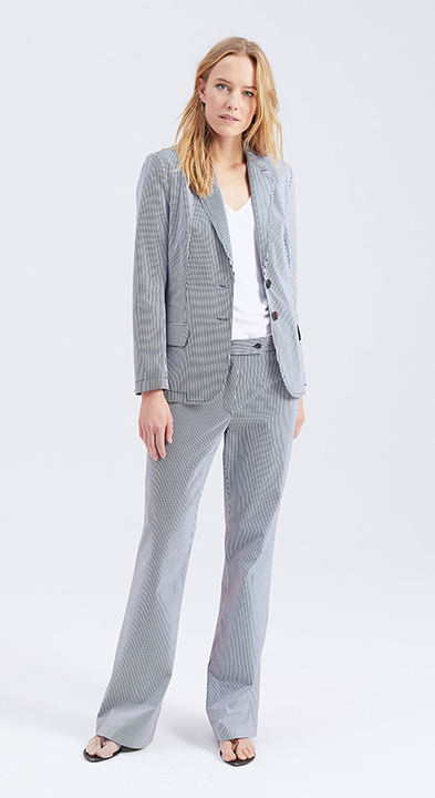 Cotton Stripe Elson Blazer