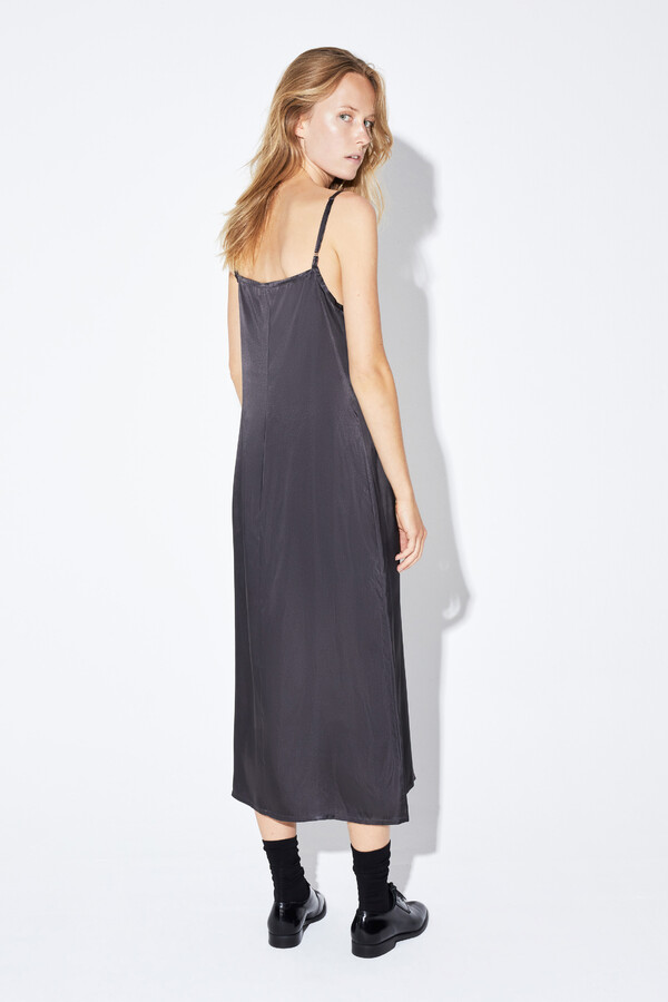SLIP DRESS GREY