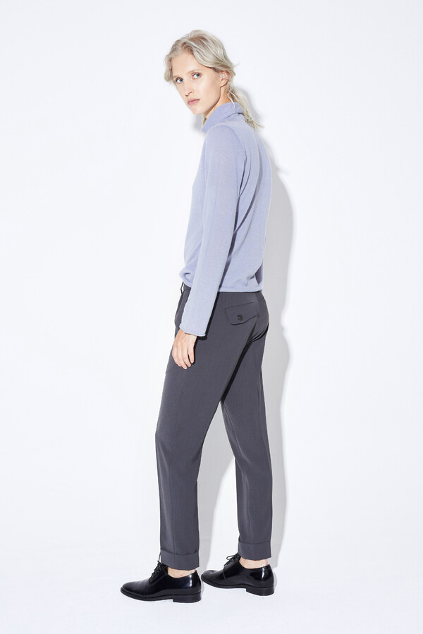 CREPE RELAXED CHINO GREY