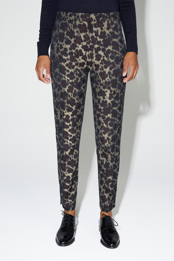JACQUARD FITTED PANTS MIDNIGHT BLUE