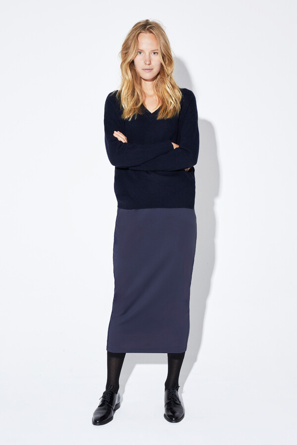 SUPER STRETCH PENCIL SKIRT MIDNIGHT BLUE