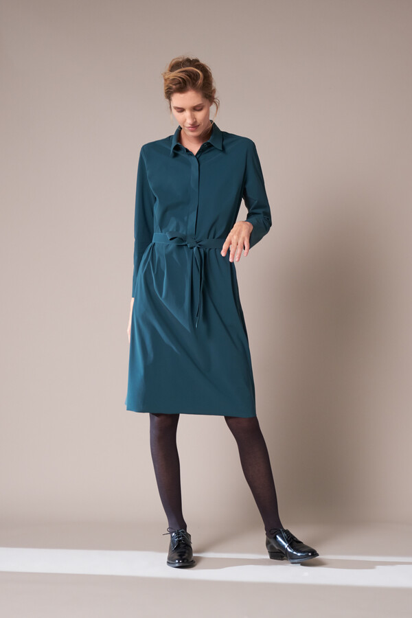 POLO DRESS DEEP TEAL