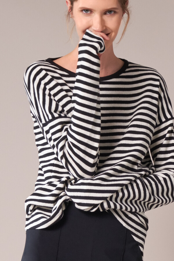 BOYS STRIPED TEE BLACK