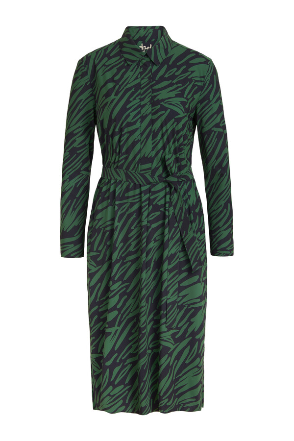 POLO DRESS PRINT GREEN