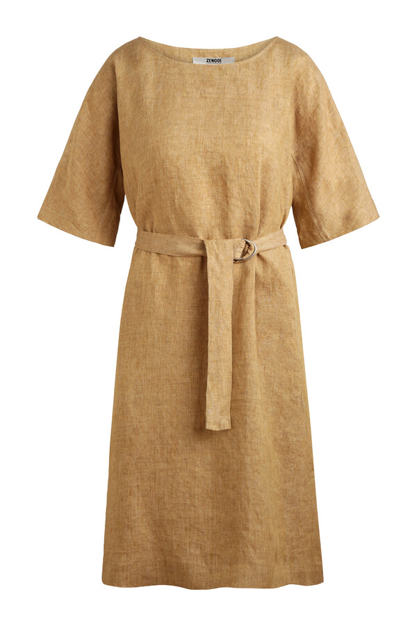 LINEN DELAVE LOOSE DRESS SAND