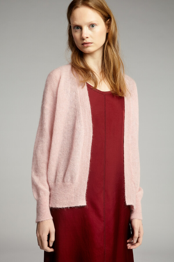 SUMMER ALPACA CARDI FADED ROSE