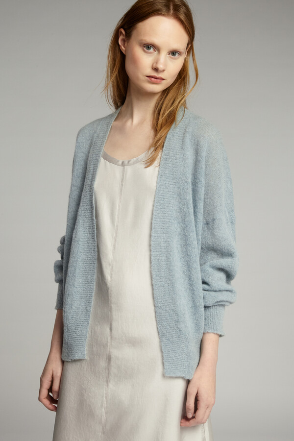 SUMMER ALPACA CARDI HORIZON BLUE