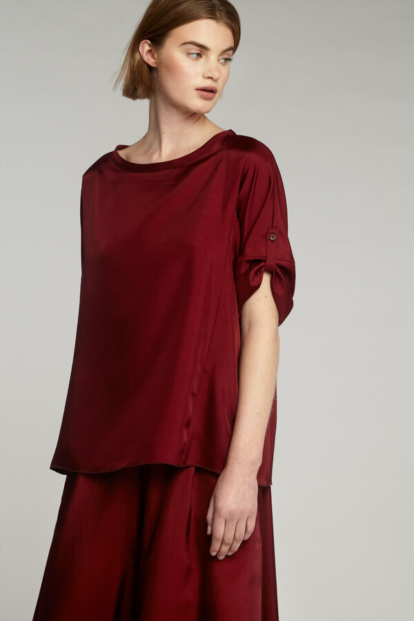RELAXED SILKY TOP CARDINALE