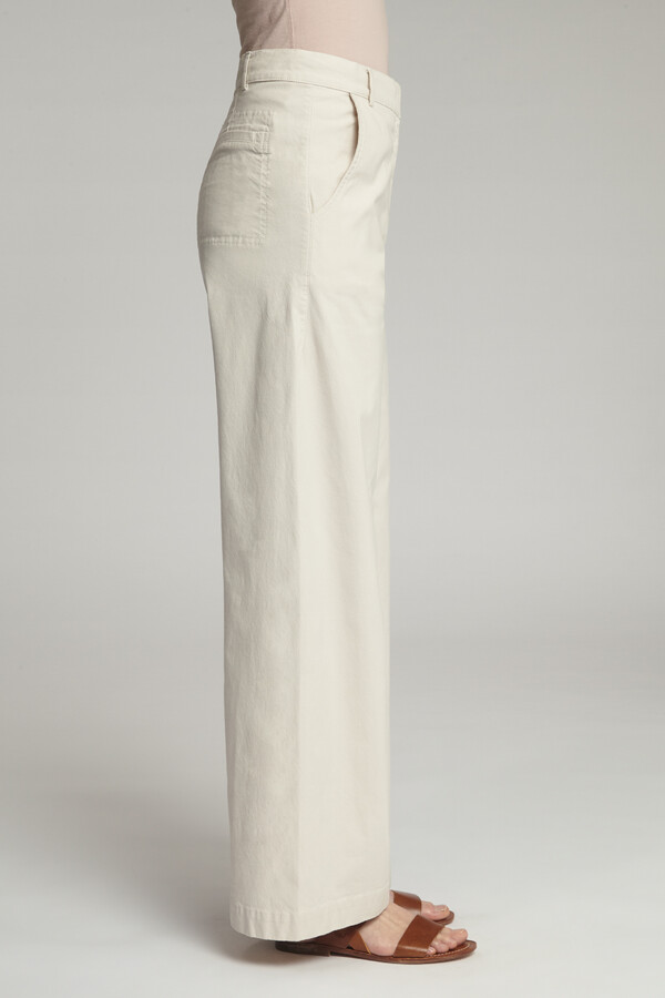 COTTON DRAWSTRING PANTS EGGSHELL
