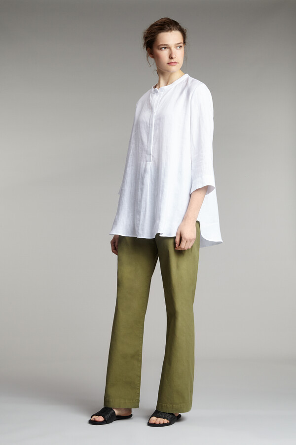 COTTON DRAWSTRING PANTS SAFARI GREEN