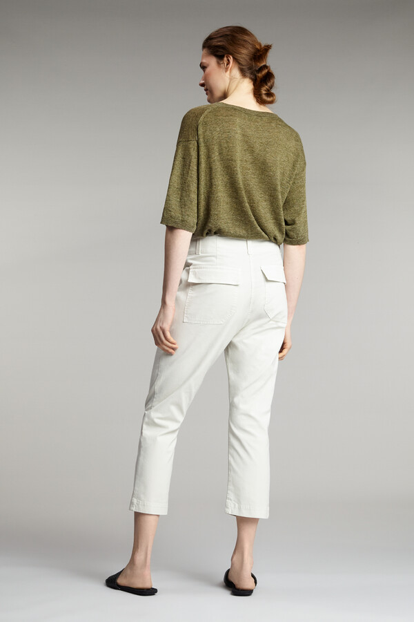 COTTON RELAXED PANTS EGGSHELL