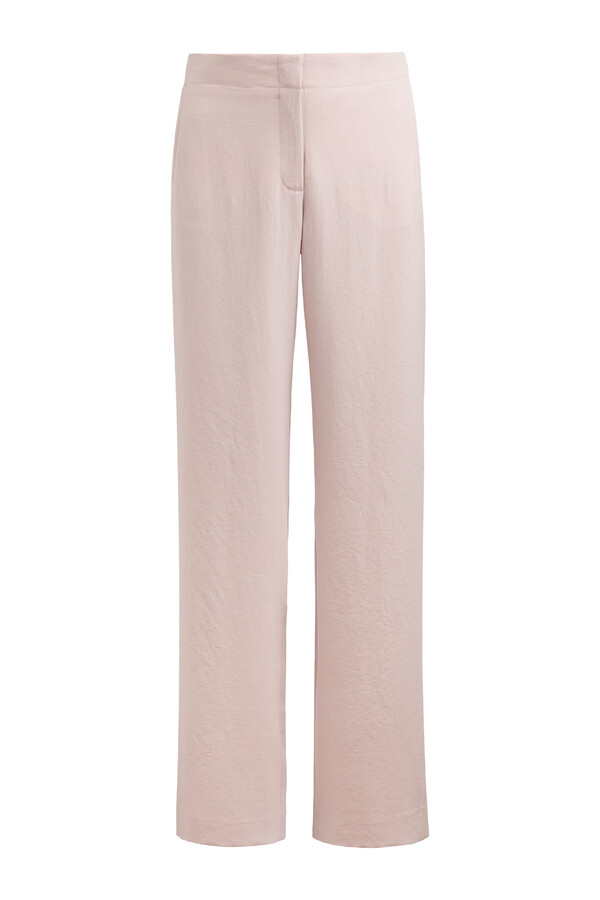 JAPANESE CREPE WIDE LEG PANTS FADED ROSE