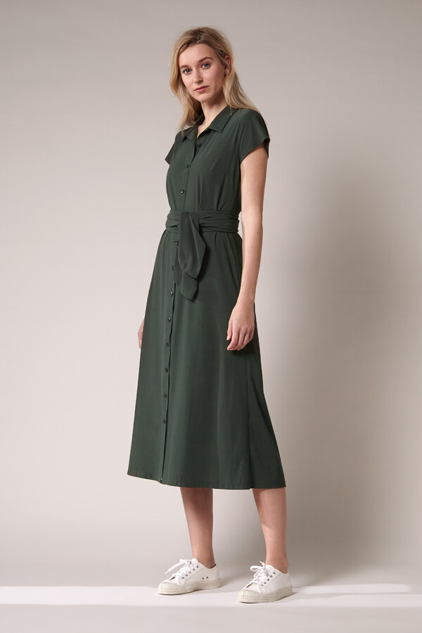 LONG SHIRT DRESS GREEN