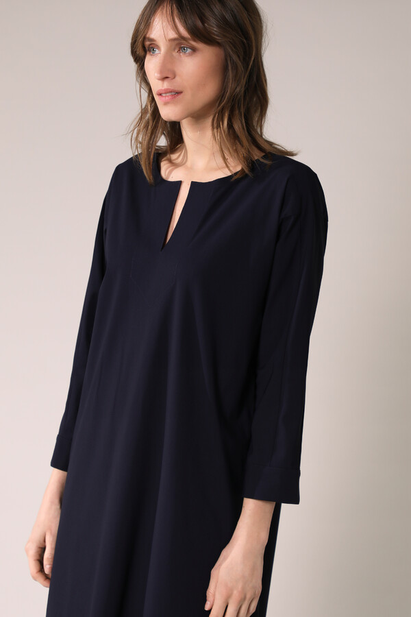 STRAIGHT TUNIC DRESS INK BLUE