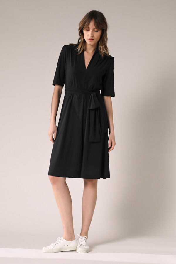 SHORT SLEEVE DRESS BLACK