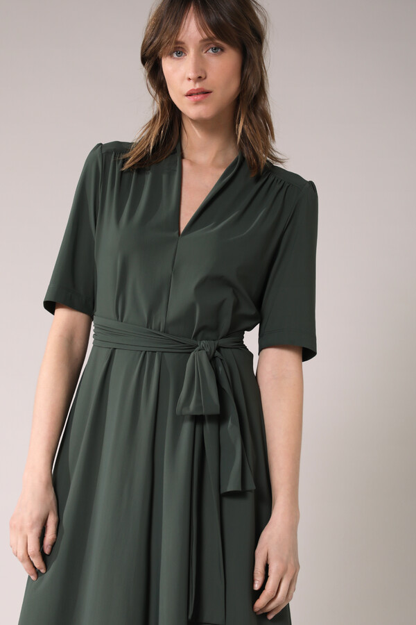 SHORT SLEEVE DRESS GREEN