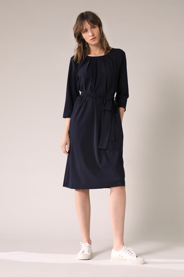 PLEATED DRESS INK BLUE