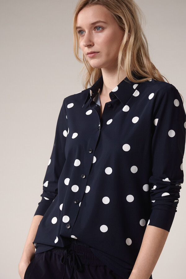 SHIRT DOT PRINT INK BLUE