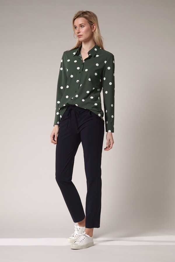 SHIRT DOT PRINT GREEN