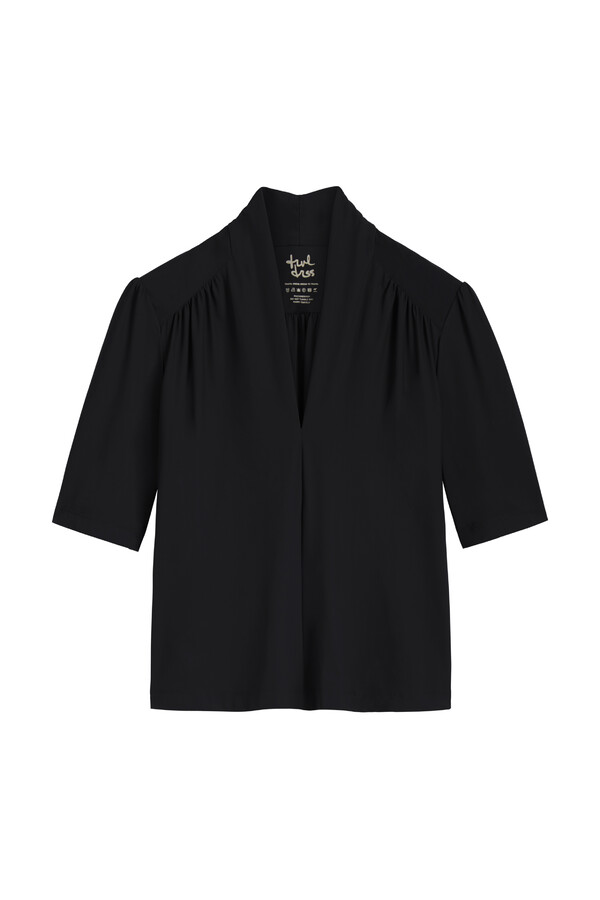 SHORT SLEEVE TOP BLACK