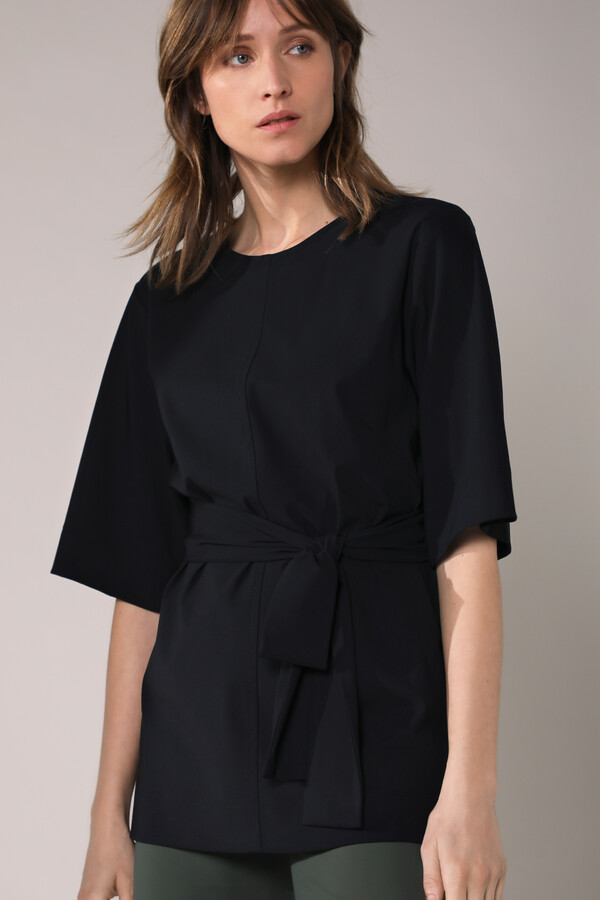 WIDE TEE TOP BLACK