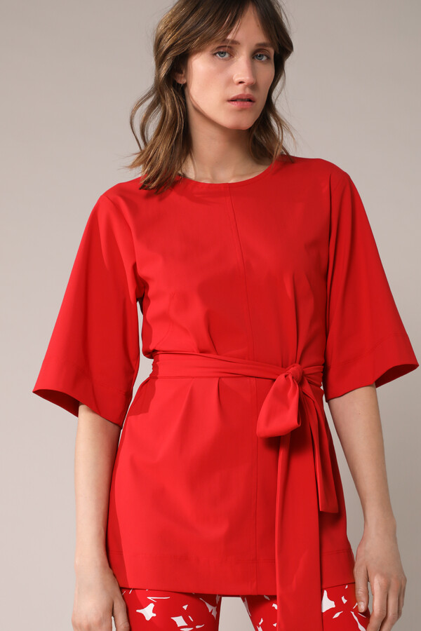 WIDE TEE TOP RADICAL RED