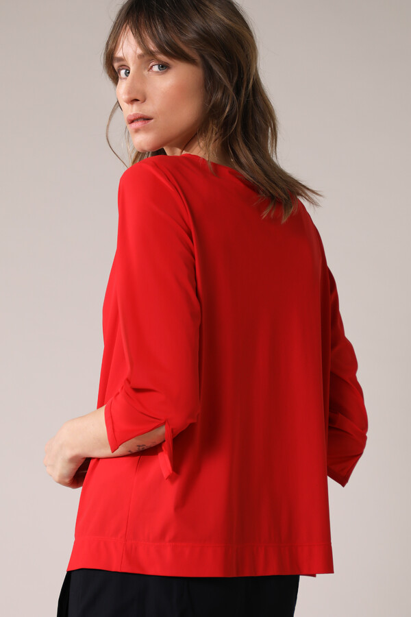 GATHERED TOP RADICAL RED