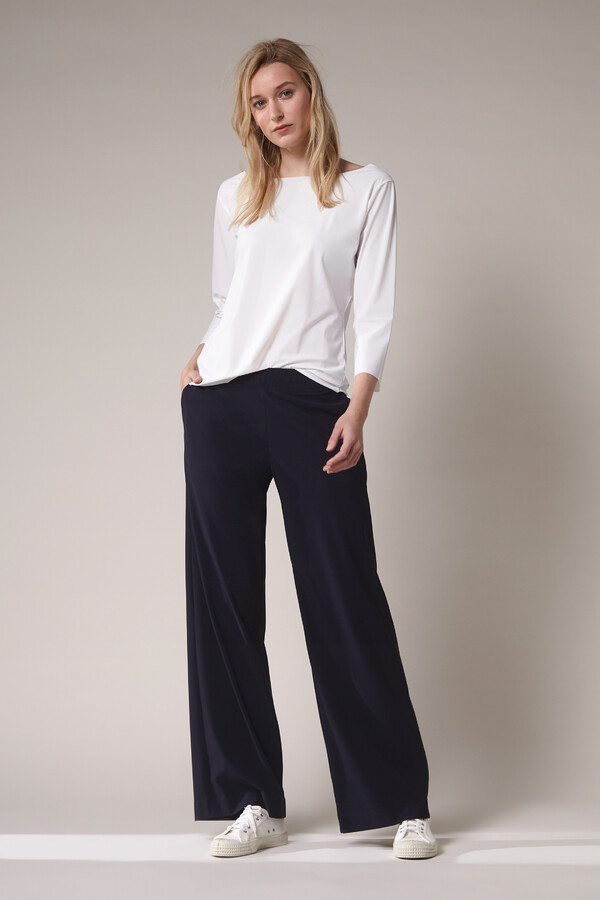 WIDE LEG PANTS INK BLUE