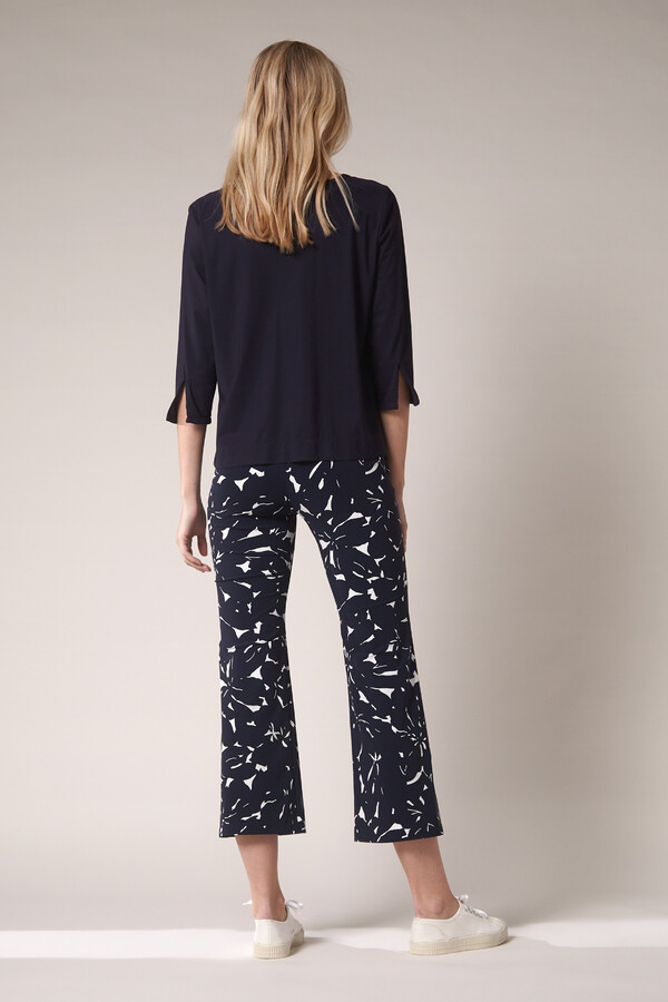 JAZZ PANTS FLOWER PRINT INK BLUE
