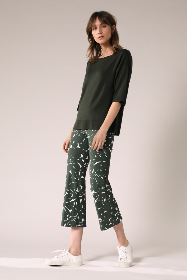 JAZZ PANTS FLOWER PRINT GREEN
