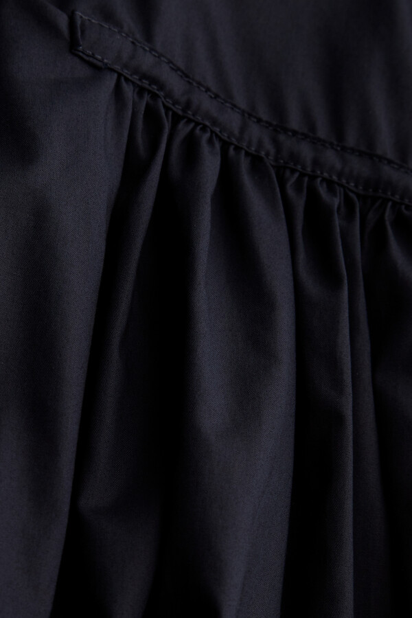 COTTON VOILE BHOPALI DRESS MIDNIGHT BLUE