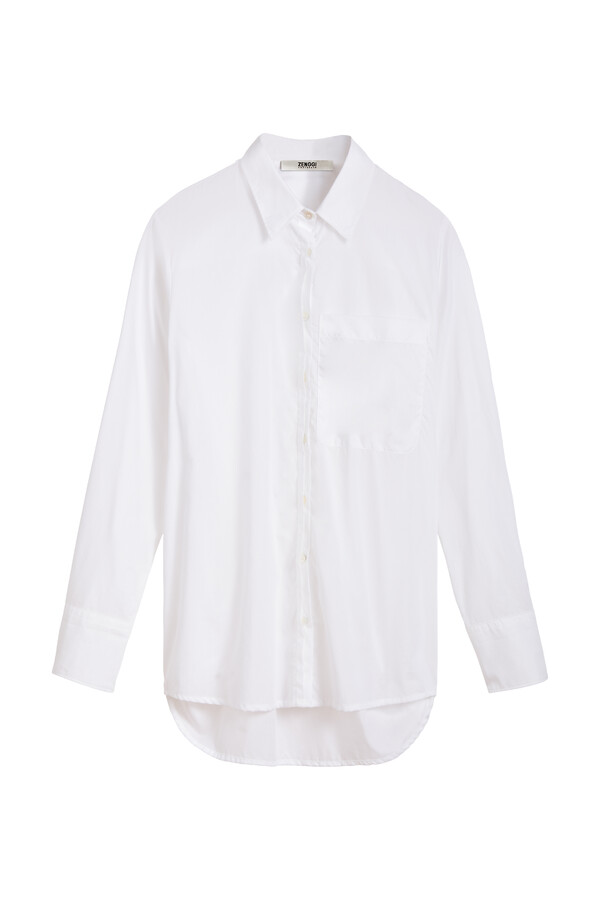 COTTON VOILE LONG-SLEEVE SHIRT WHITE