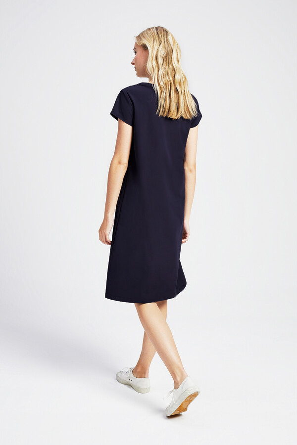 T-SHIRT DRESS INK BLUE