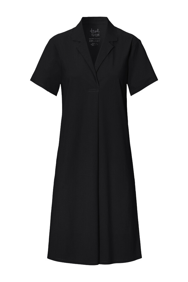 CASUAL POLO DRESS BLACK