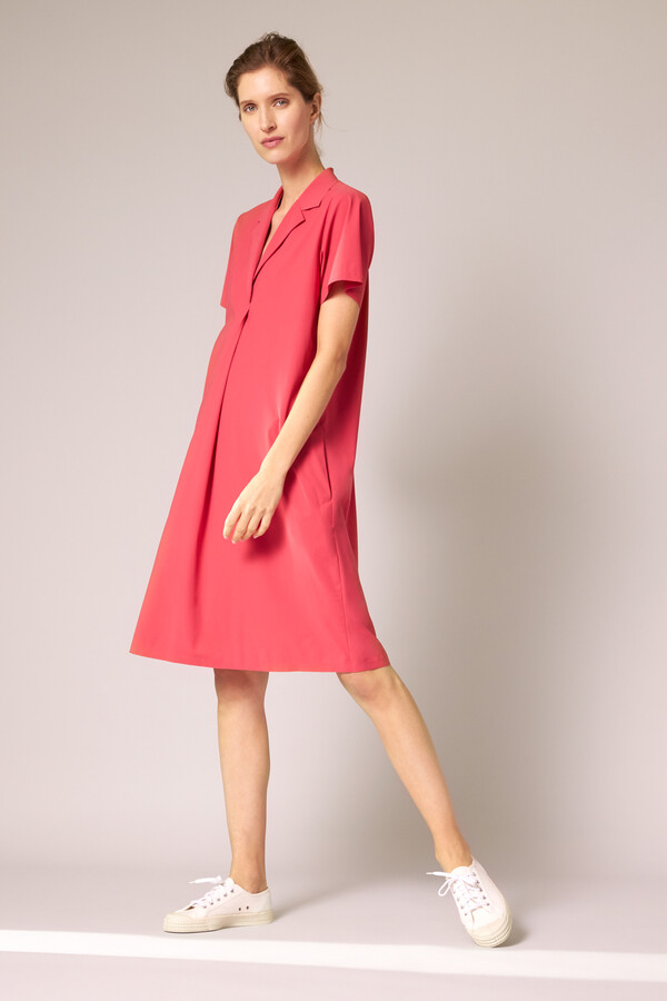 CASUAL POLO DRESS RASPBERRY
