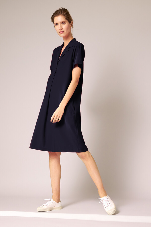 CASUAL POLO DRESS INK BLUE