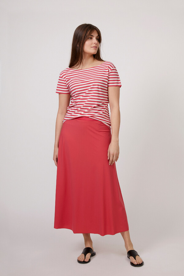 SHORT SLEEVE T-STRIPE RASPBERRY