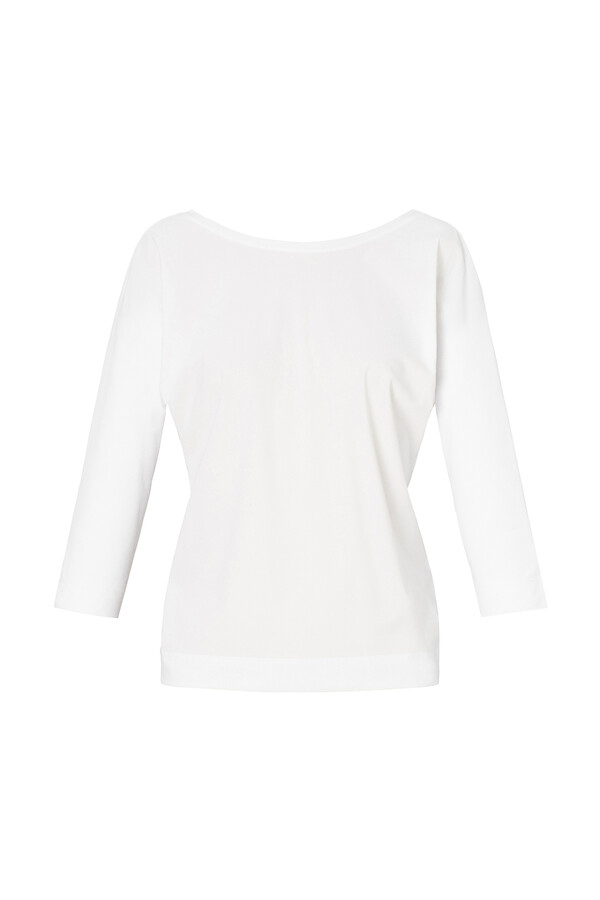 BAT SLEEVE TOP OFF WHITE