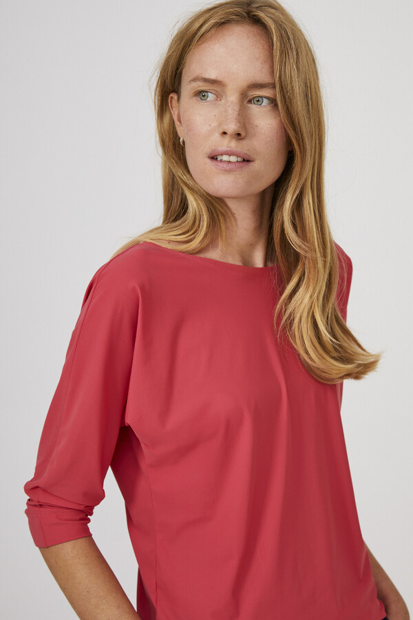 BAT SLEEVE TOP RASPBERRY