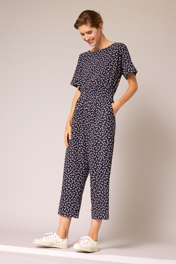 EASY JUMPSUIT PRINTED INK BLUE