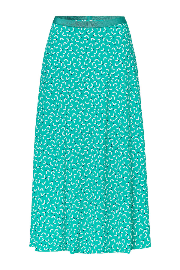 FLAIR SKIRT PRINTED JADE