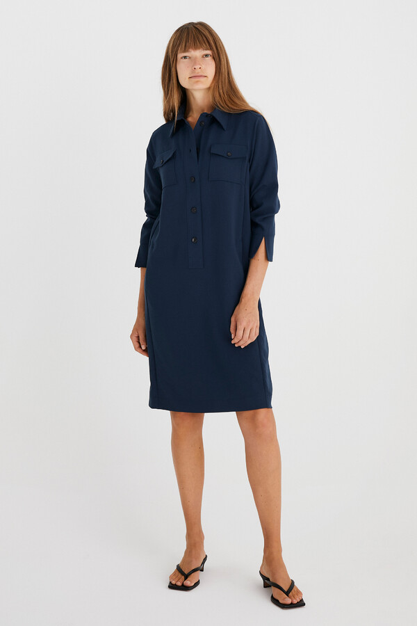 NEW POLO DRESS SLATE