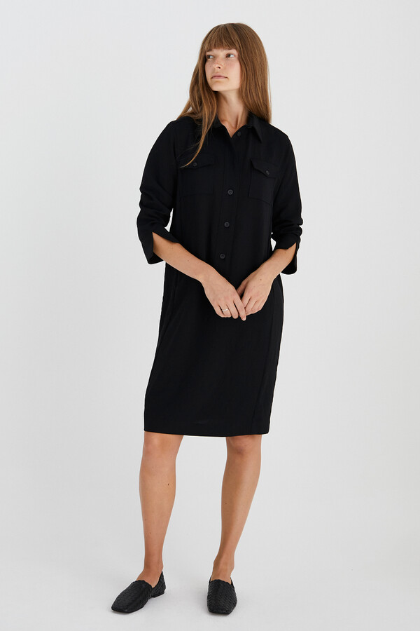 NEW POLO DRESS BLACK