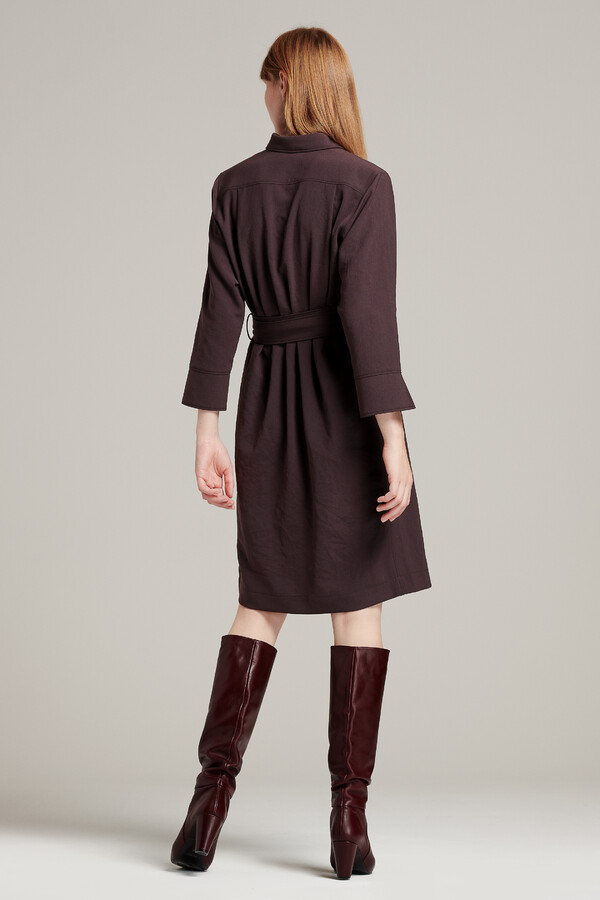 NEW POLO DRESS SMOKEY BROWN