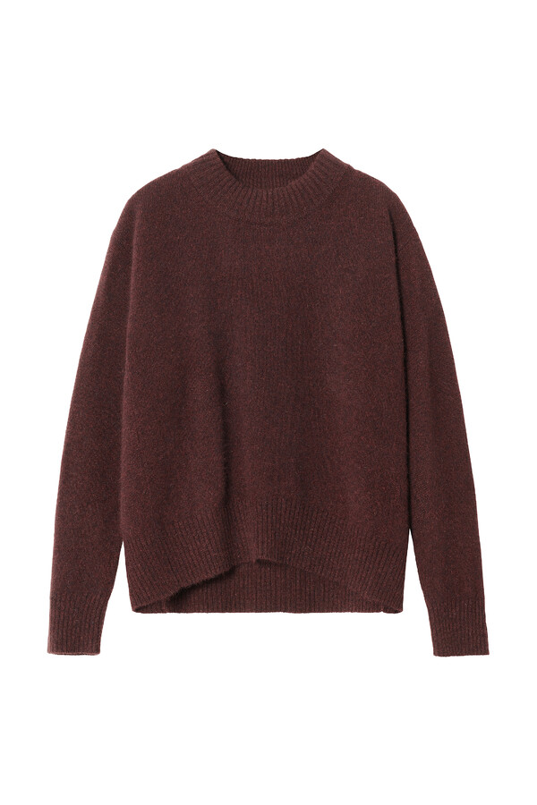 SOFT PULLOVER WARM BROWN